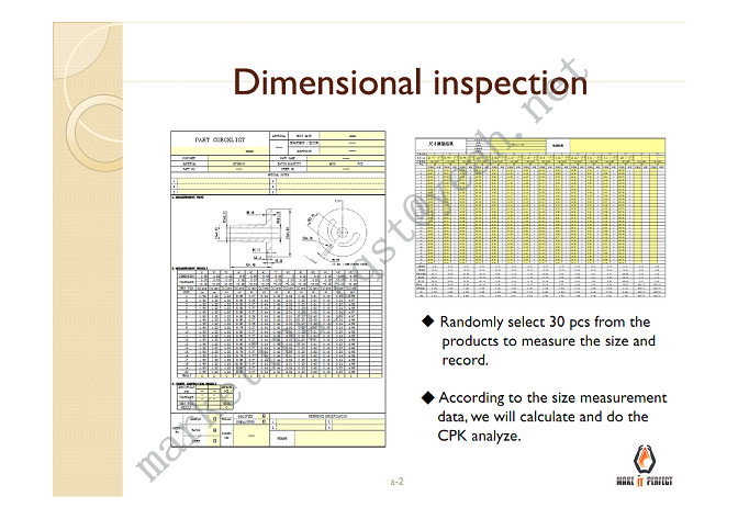 DIMENSIONS INSPECTION