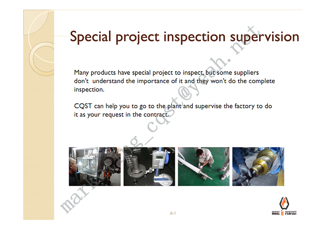 SPECIAL PROJECT INSPECTION